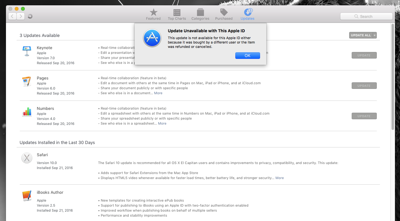 Grayed out Apple ID in App Store after up… - Apple Community
