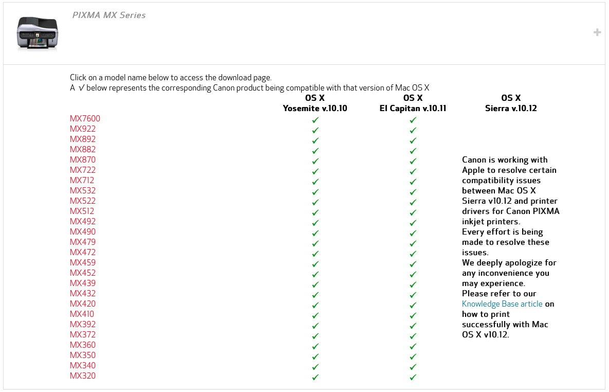 Sierra kills Canon driver  Next? - Apple Community