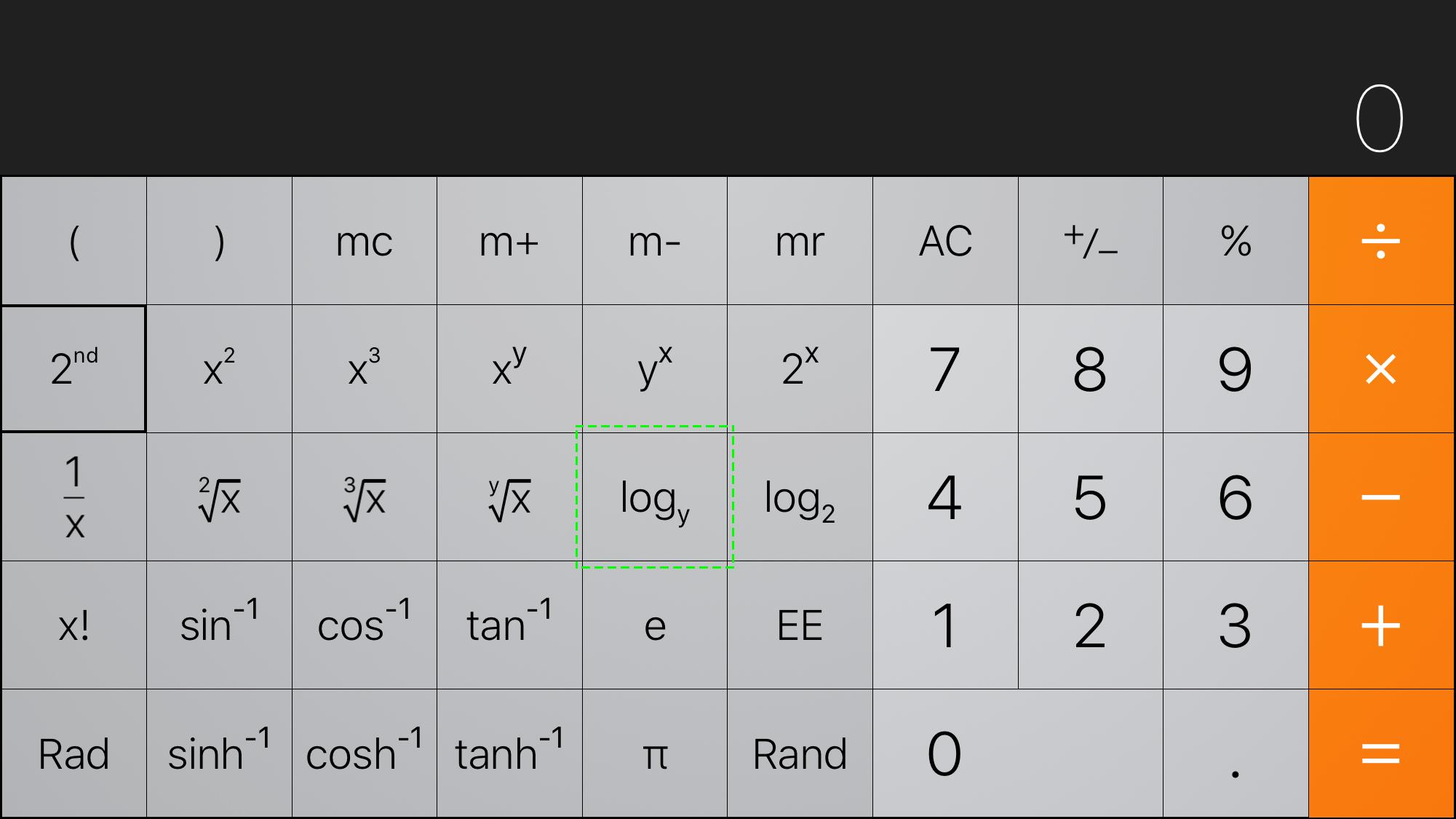 log base y Scientific Calculator - Apple Community