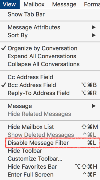 Why doesn't my flagged email show up … - Apple Community