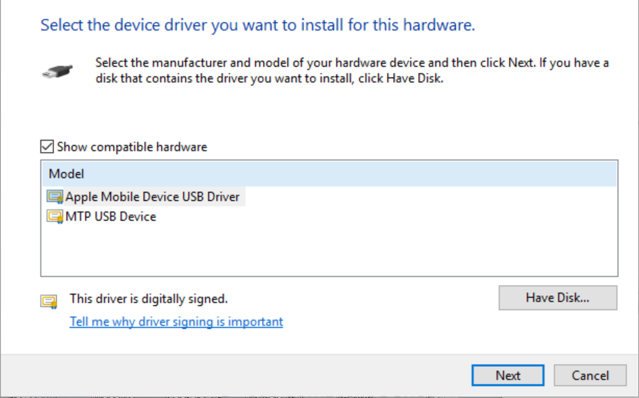iphone 6s usb driver for windows 10