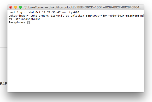 Unwanted FileVault disk encryption on ext… - Apple Community