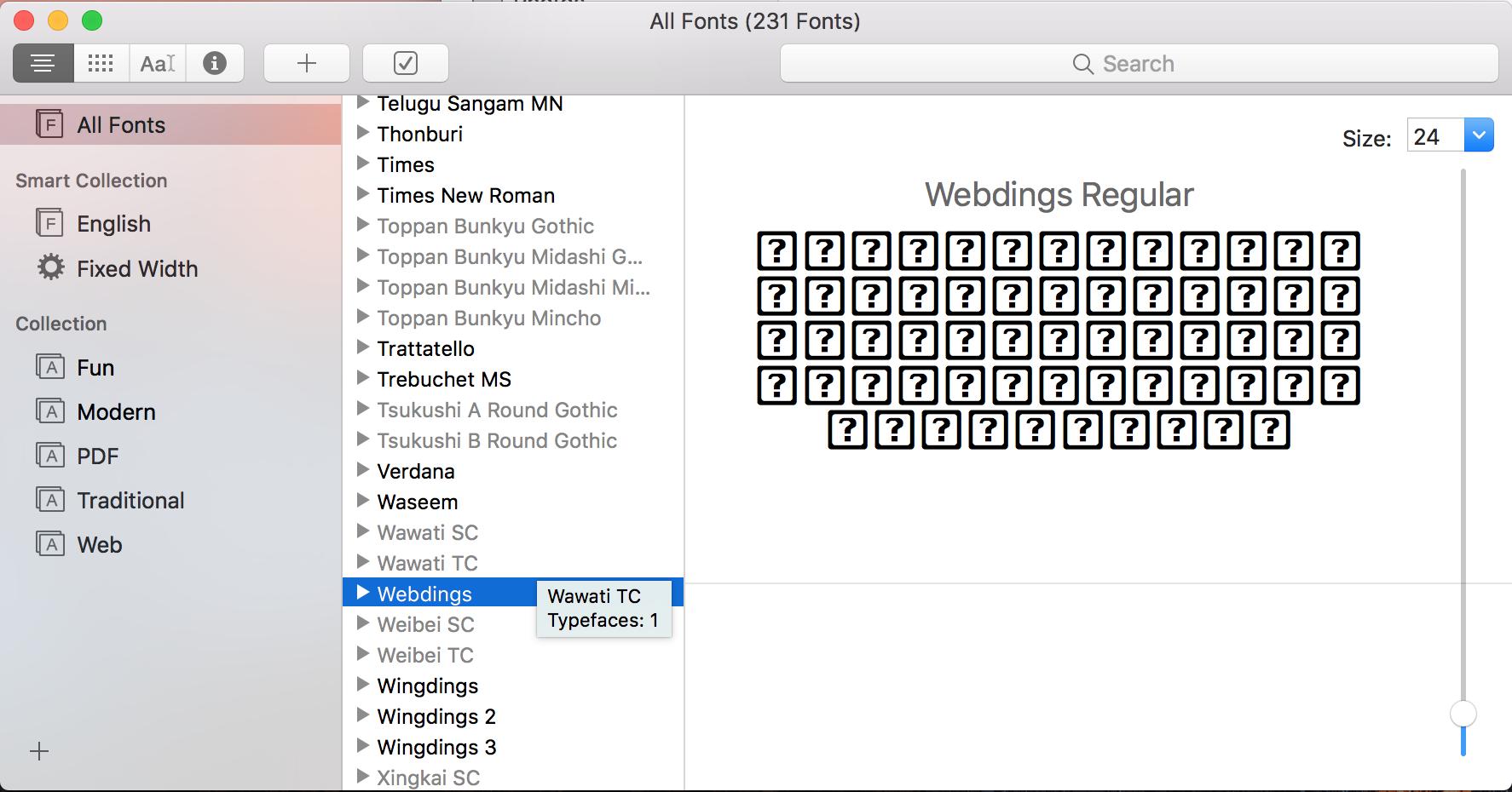 Problem With Symbol Fonts Apple Community