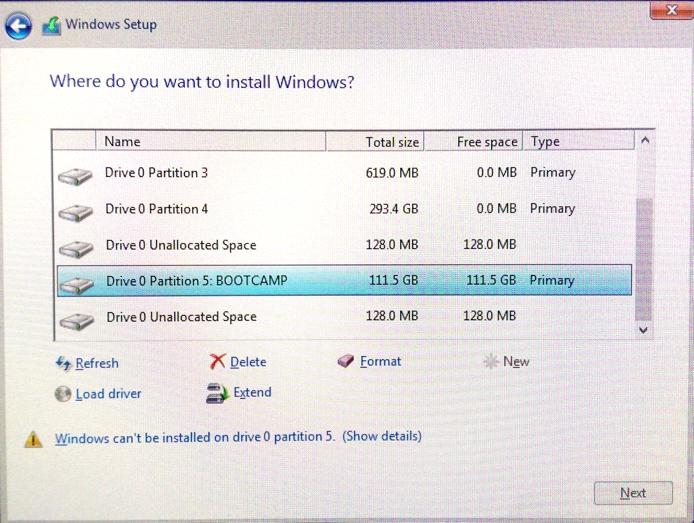install windows on mac fusion drive