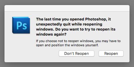Photoshop CS5 crashes on opening with err… - Apple Community