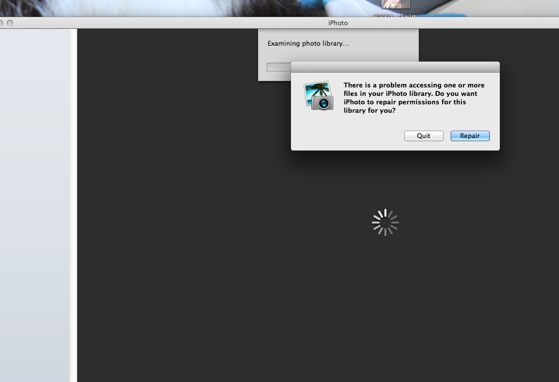 iPhoto Won't Open - Attempts to Repai… - Apple Community