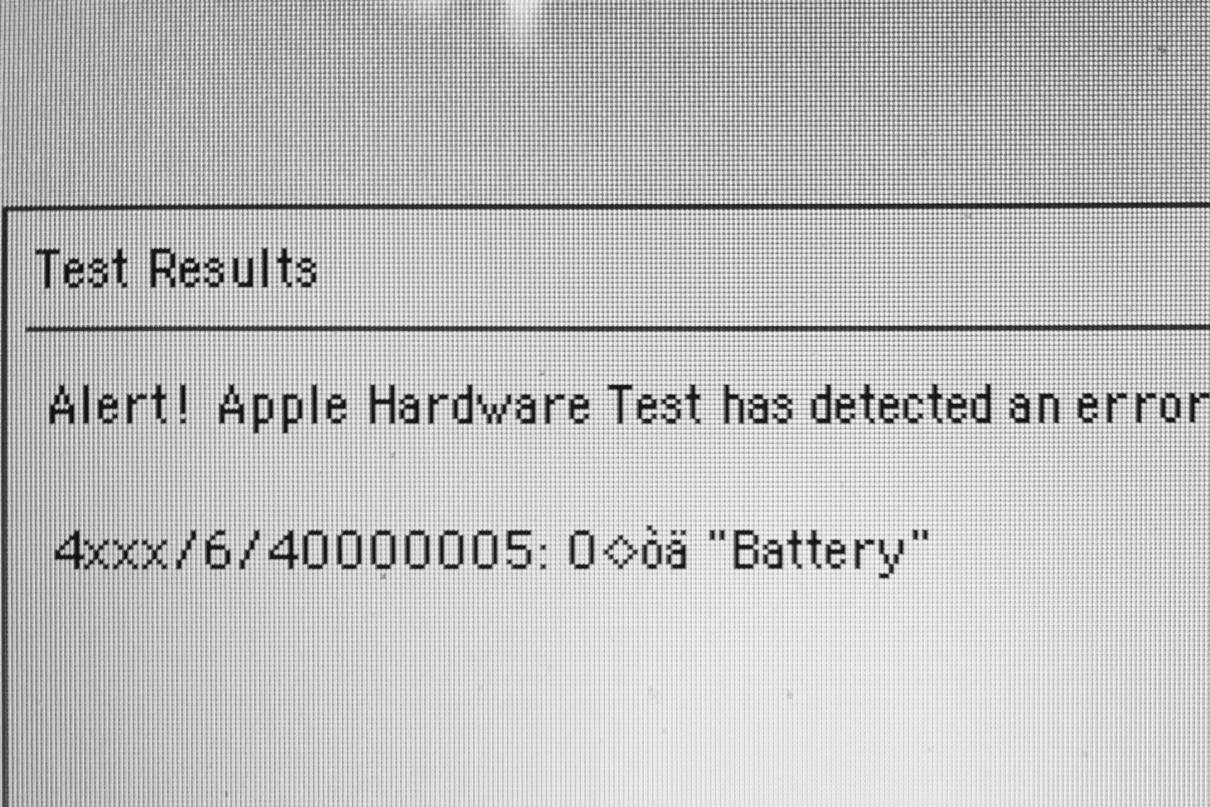 4xxx/6/40000005: Battery error during onl… - Apple Community