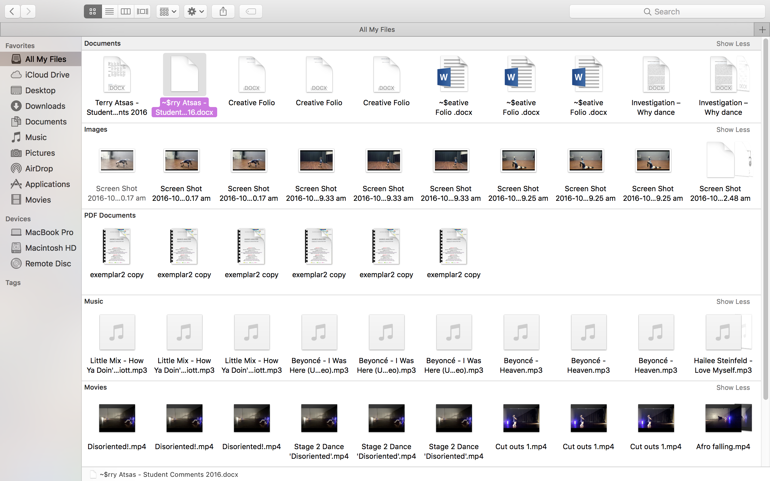 Finder Shows All My Files 3 Times - Apple Community