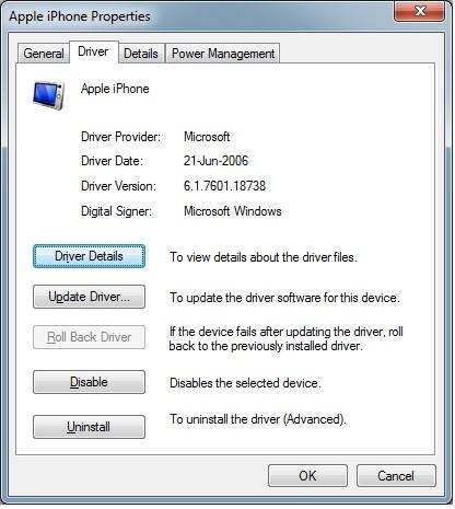 Iphone 6s- Latest USB Driver for Windows 7 - Apple Community