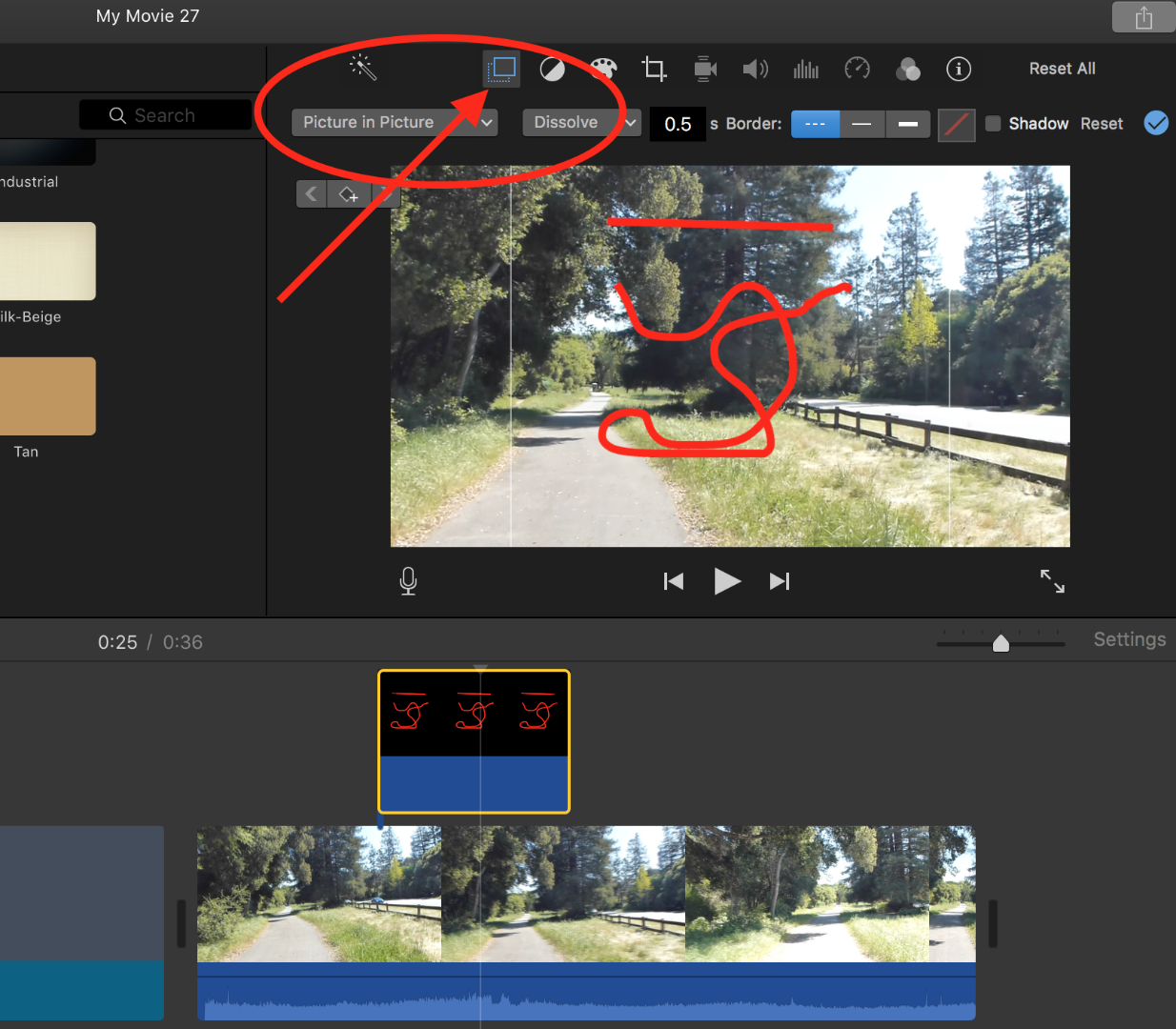 can I draw a line over video in iMovie? - Apple Community