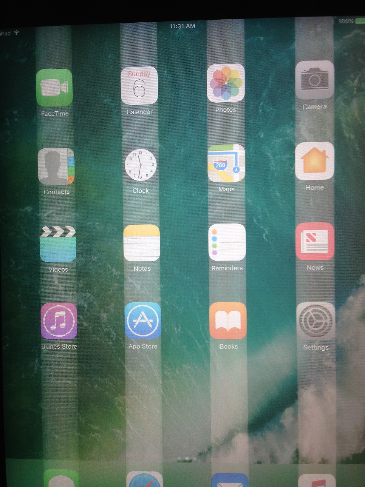 White lines all over the screen - Apple Community