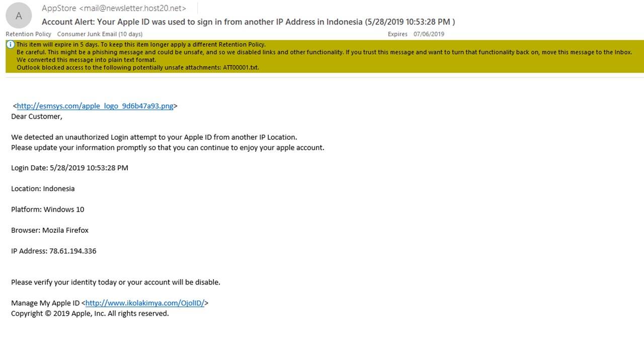 WARNING! SCAM EMAIL FROM FAKE APP STORE! - Apple Community