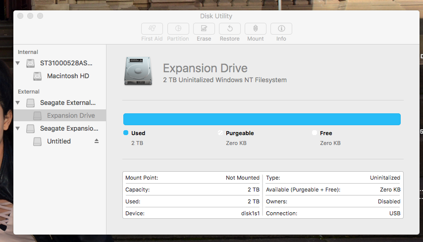 External Hard Drive seen by disk utility … - Apple Community