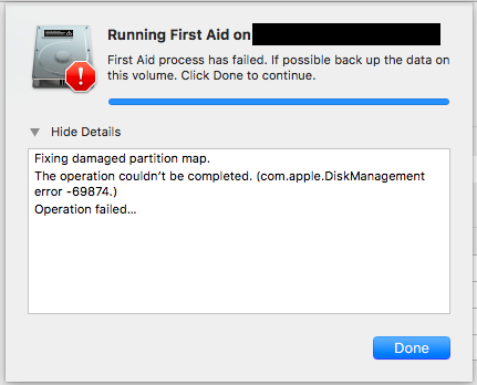 com apple DiskManagement error -69874 - Apple Community