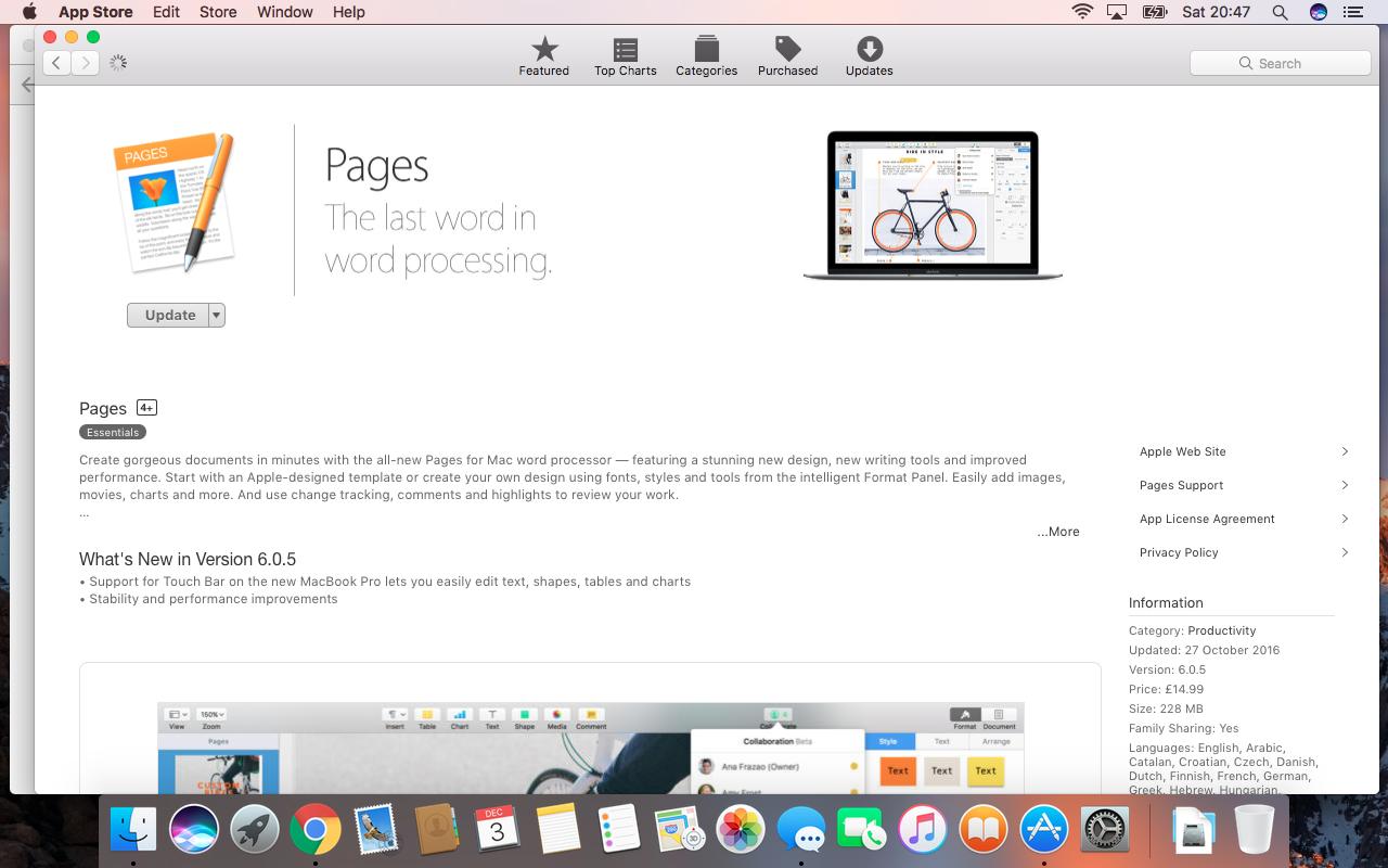 iWork 09 update on Sierra - Apple Community