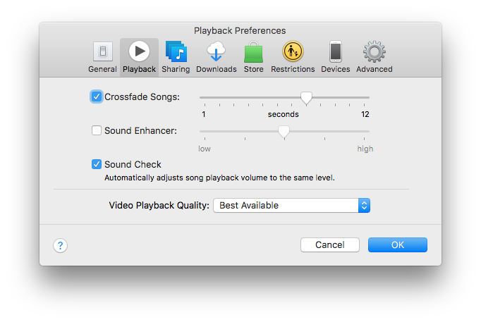 how to crossfade songs on playlist from a… - Apple Community