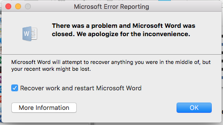 MS Office 2016 not working after update m… - Apple Community