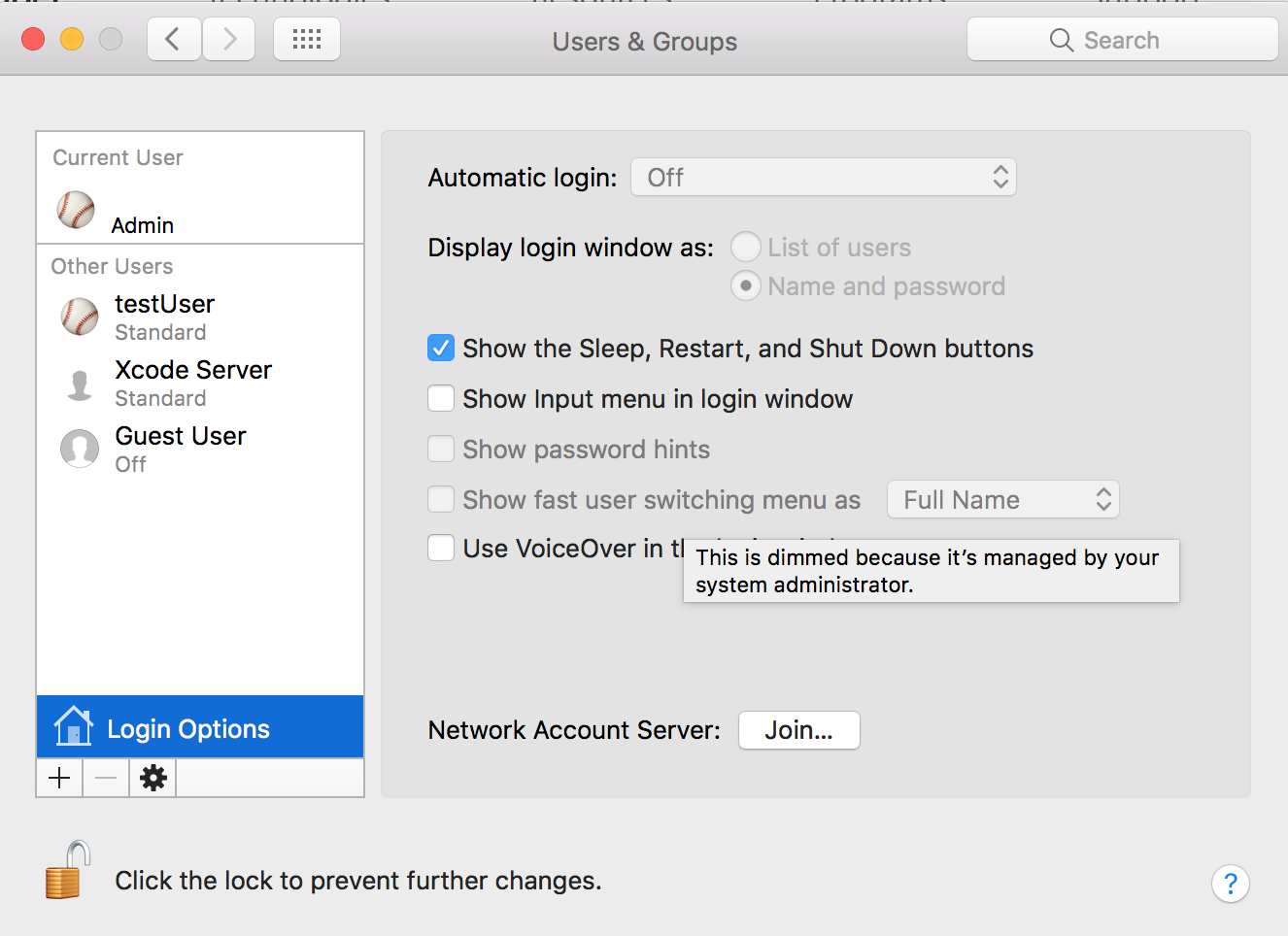 mac os x fast user switching command line