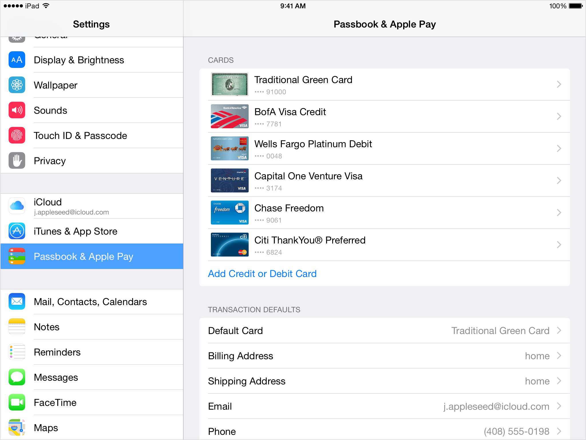 how to change credit card on itunes on iphone