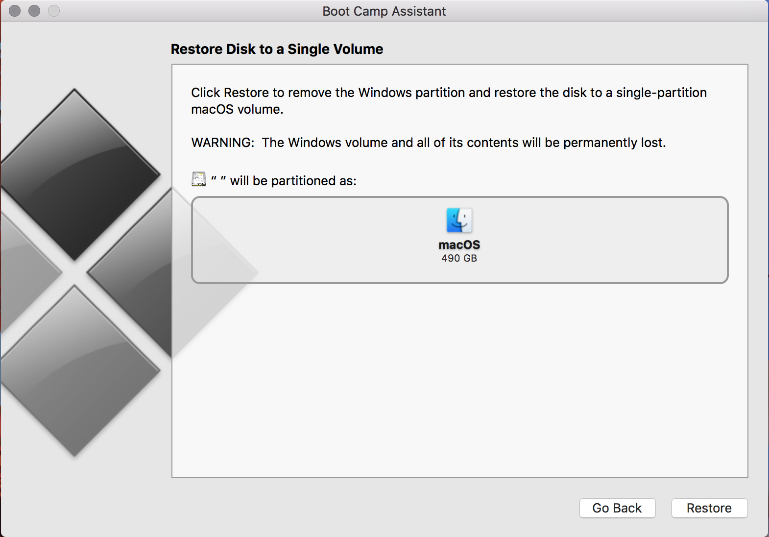 Remove a Windows Partition that is not sh… - Apple Community