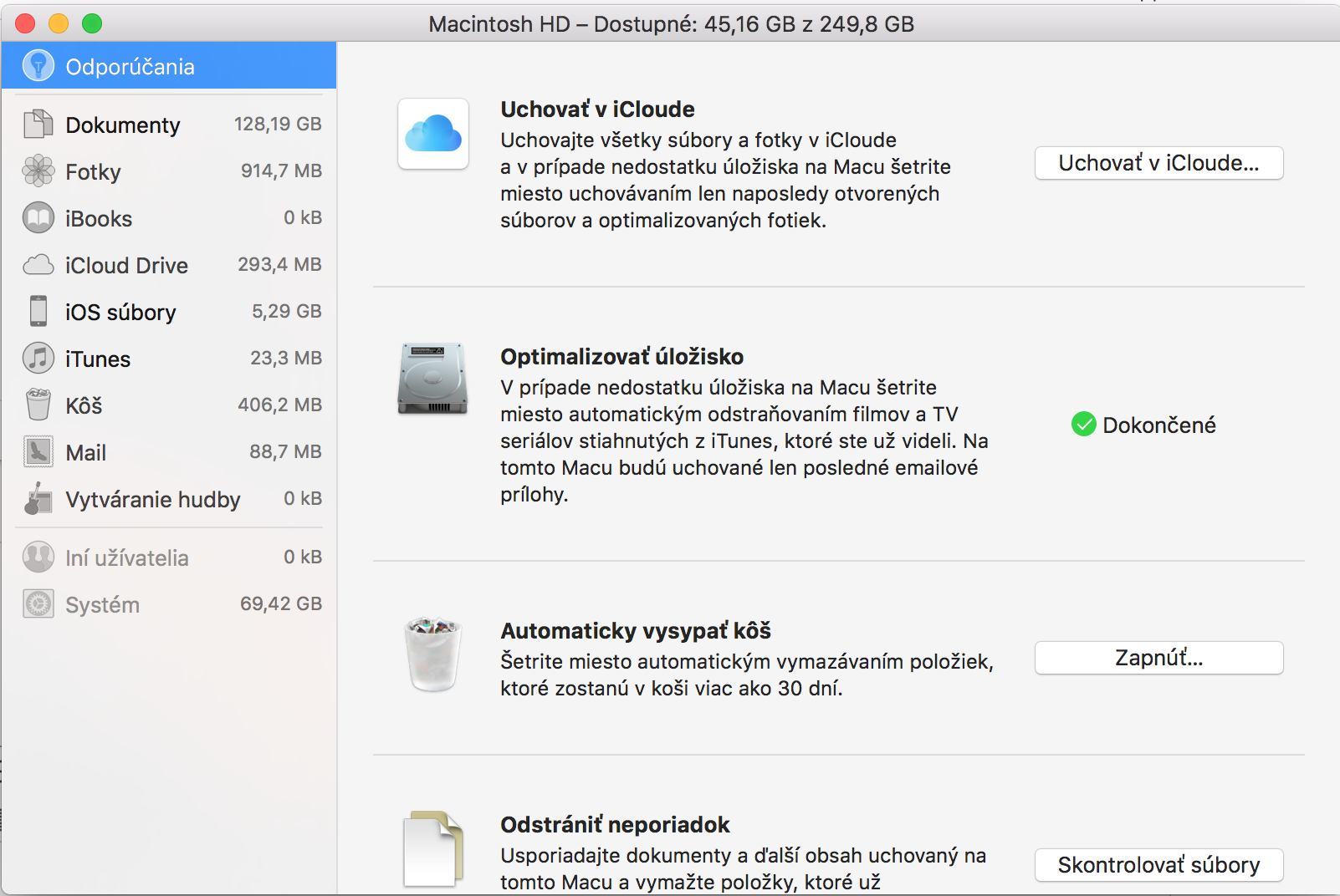 system taking up all disk space mac