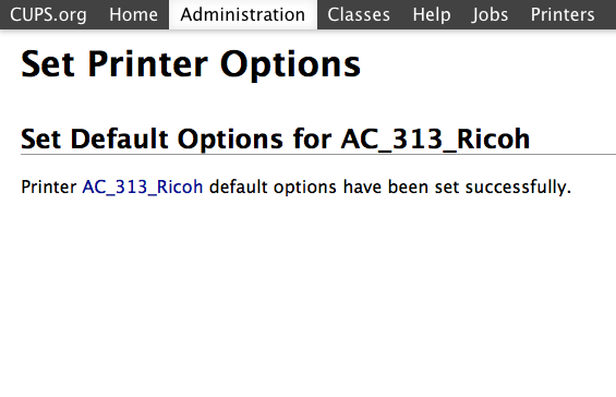 Ricoh MP C6502 - can't change default… - Apple Community