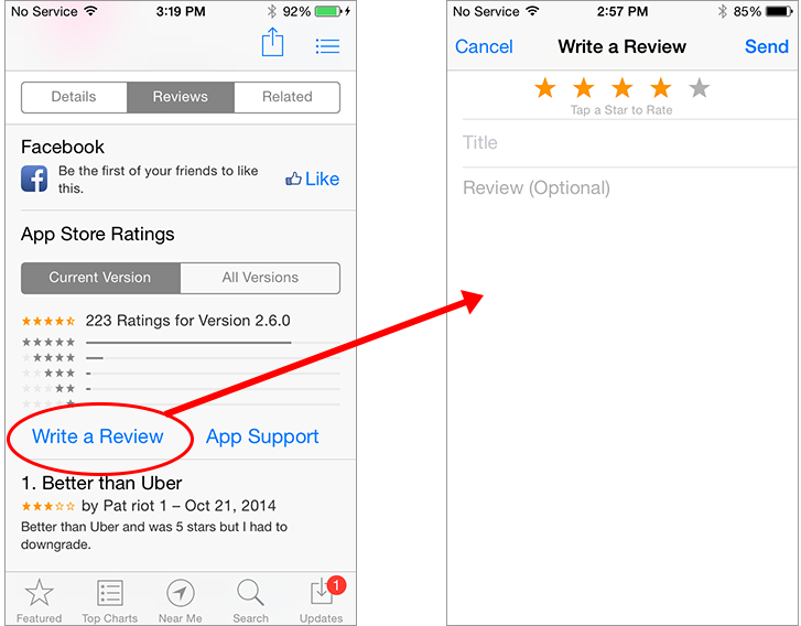 app store SEO: manage app rating and comments