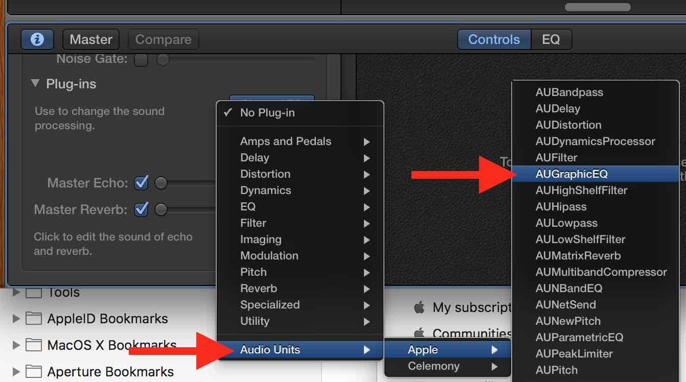 AuGraphicEQ plugin not displayed in Garag… - Apple Community