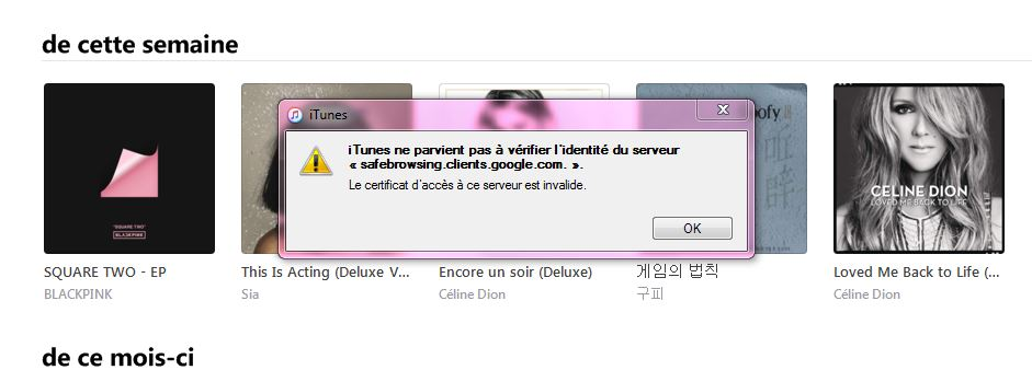 Invalid certificate for google in iTunes … - Apple Community