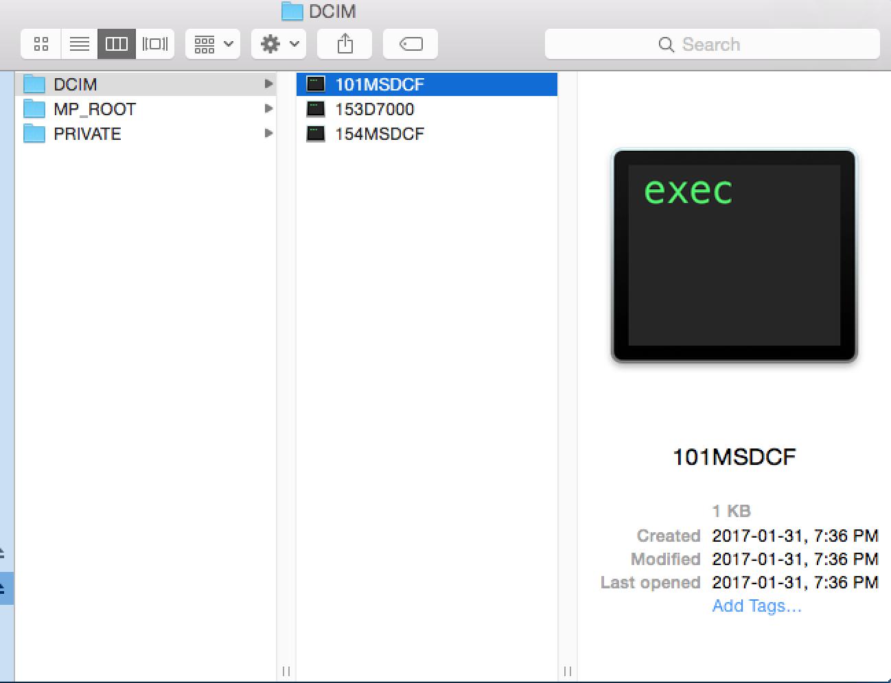 mac os unix executable file