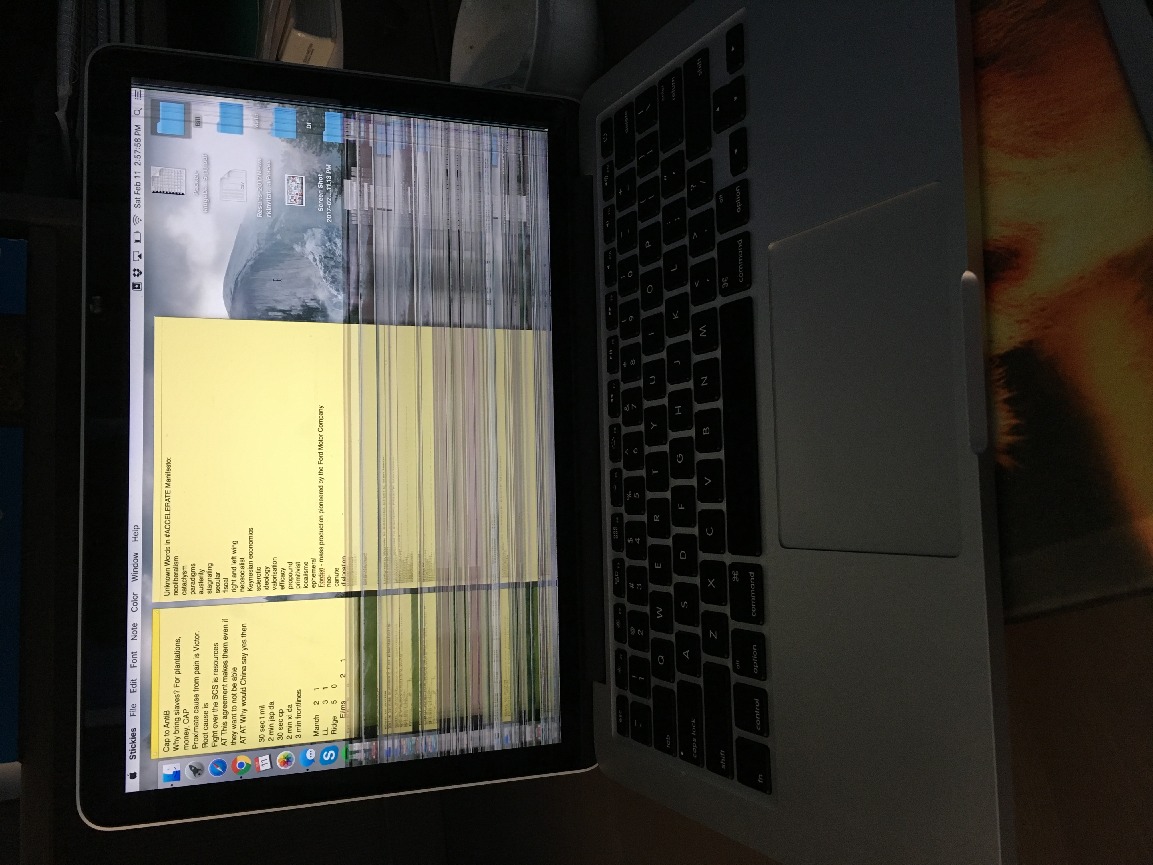 Dropped Macbook Pro has rows and columns … - Apple Community
