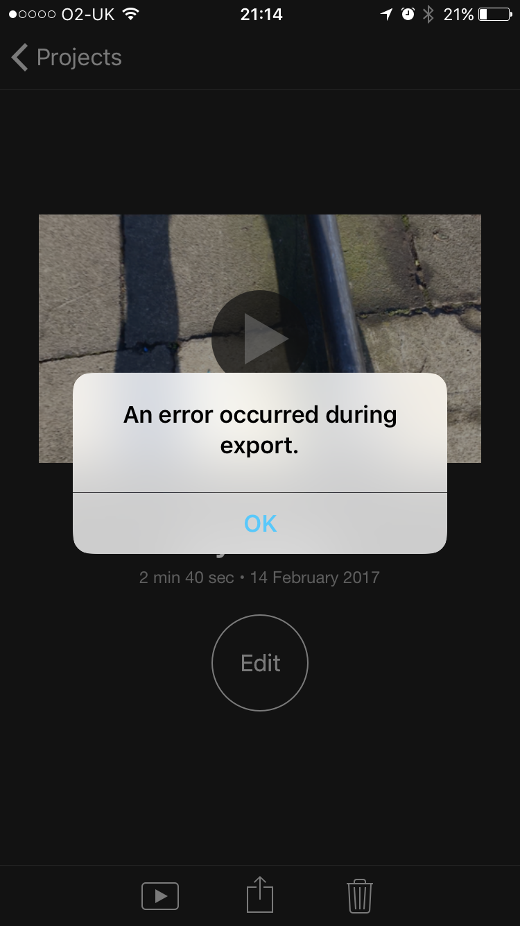 imovie crashing when exporting