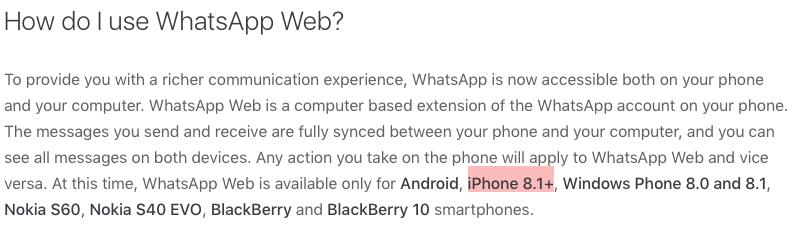 como conectar a whatsapp web desde iphone 4