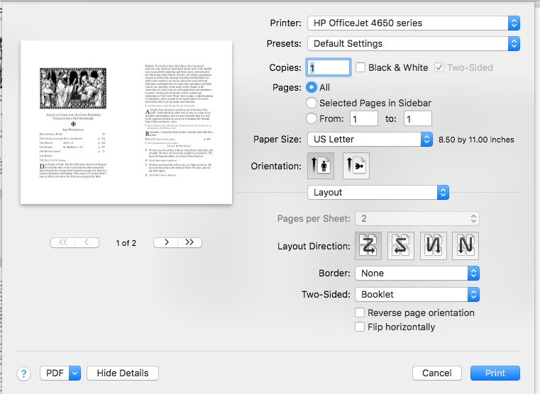 Printing Booklets - Apple Community