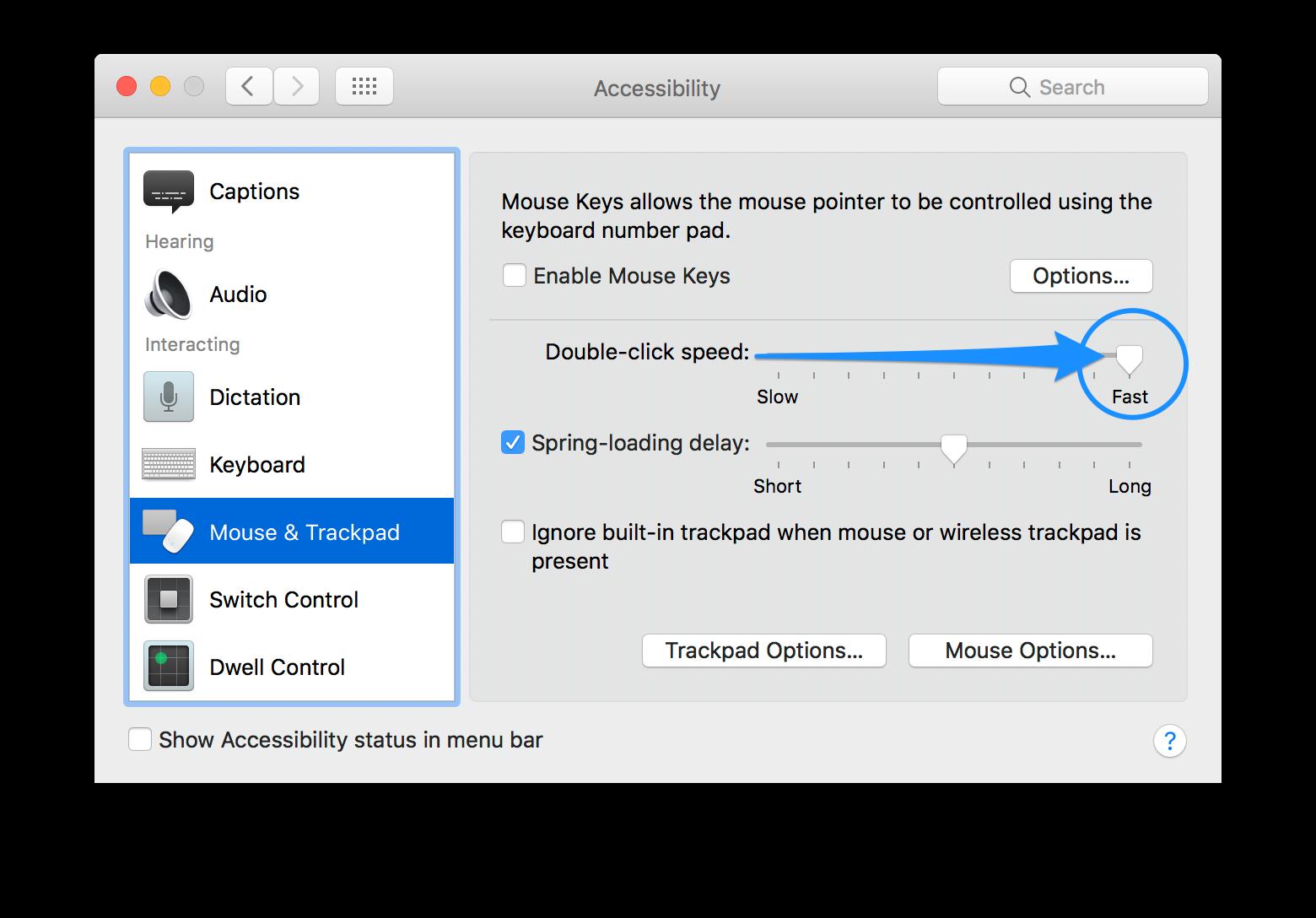 control click not working mac