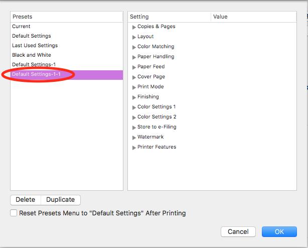 How do I change the Printer Default Setti… - Apple Community