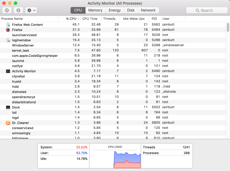 Macbook Pro CPU Usage Problems - Apple Community