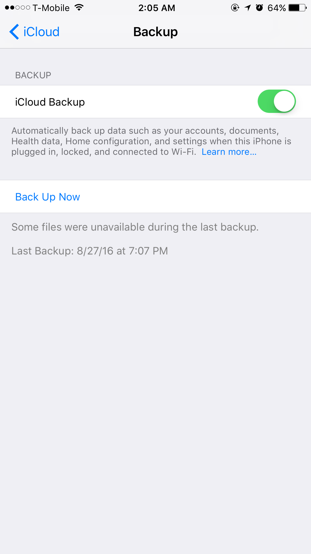 I want to backup my icloud but it says th… - Apple Community