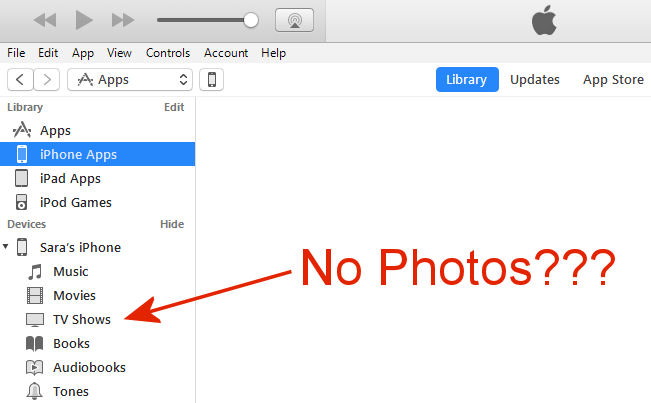 Can't see Photos in iTunes - Apple Community