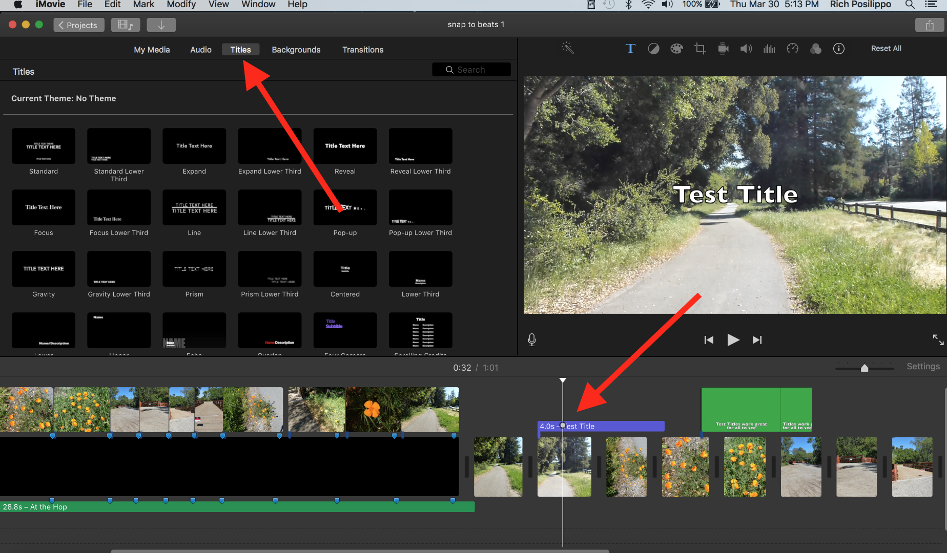 Text overlay on picture in iMovie - Apple Community