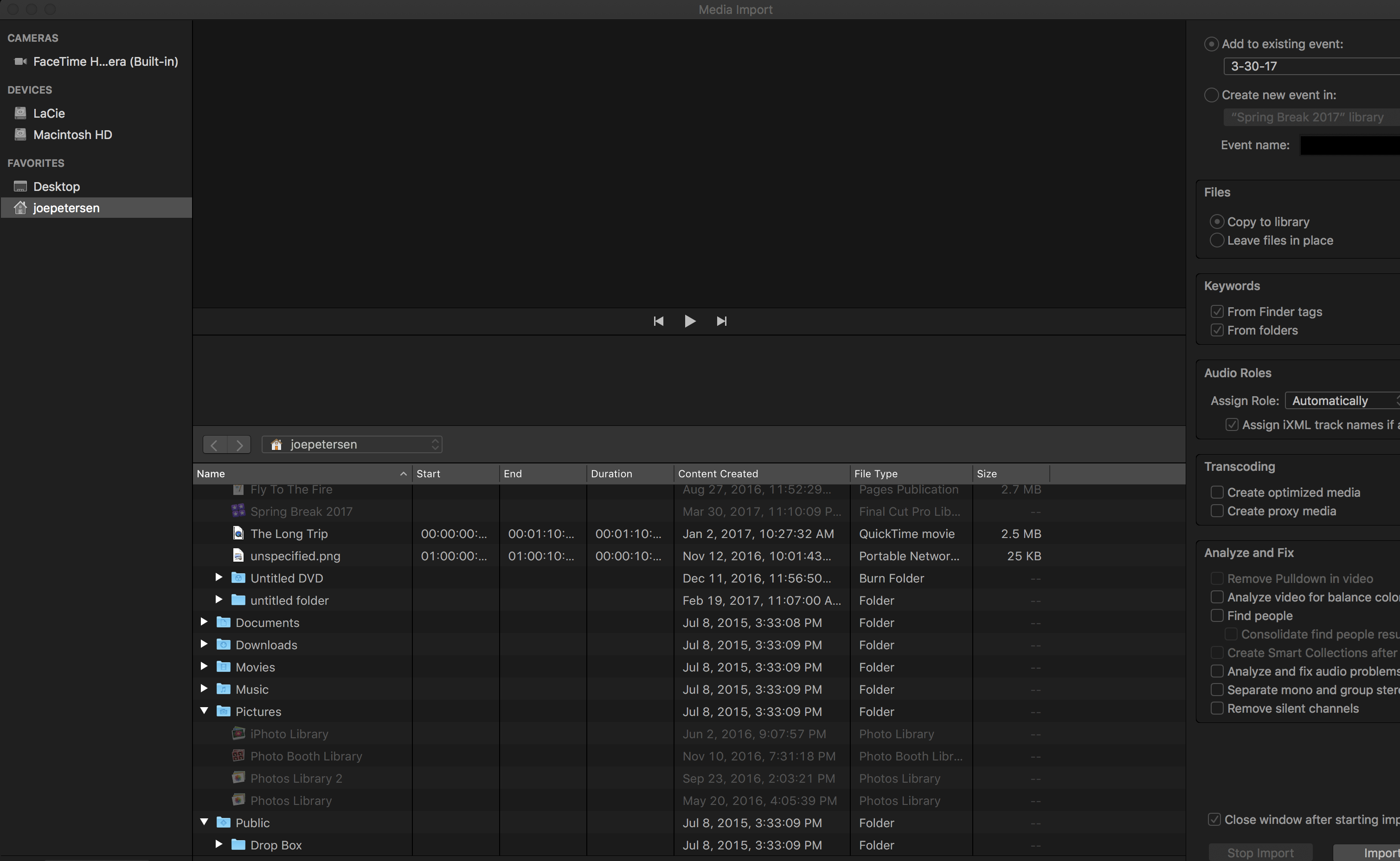 Import photo - folder greyed out - Apple Community