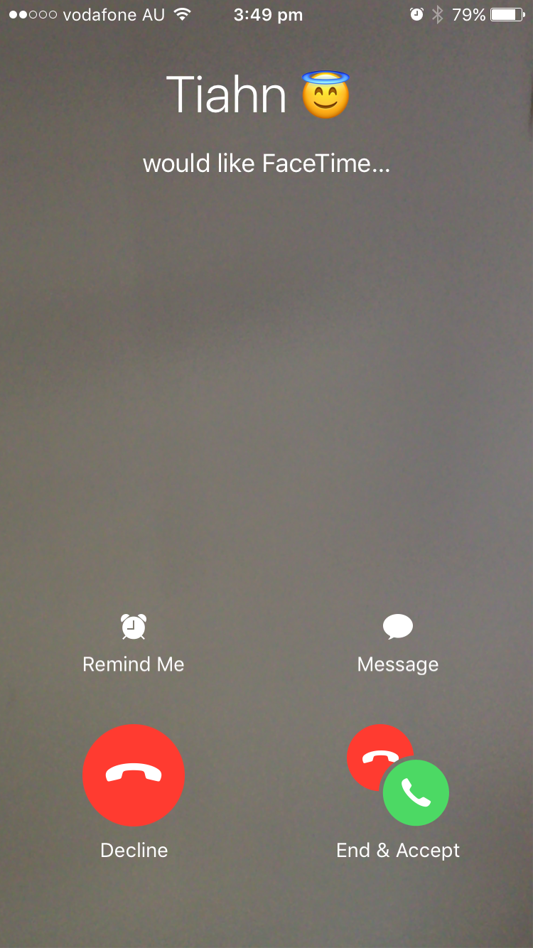 FaceTime not letting me accept phone call - Apple Community