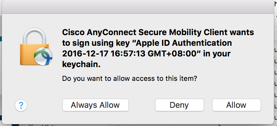 cisco anyconnect secure mobility client for macbook pro