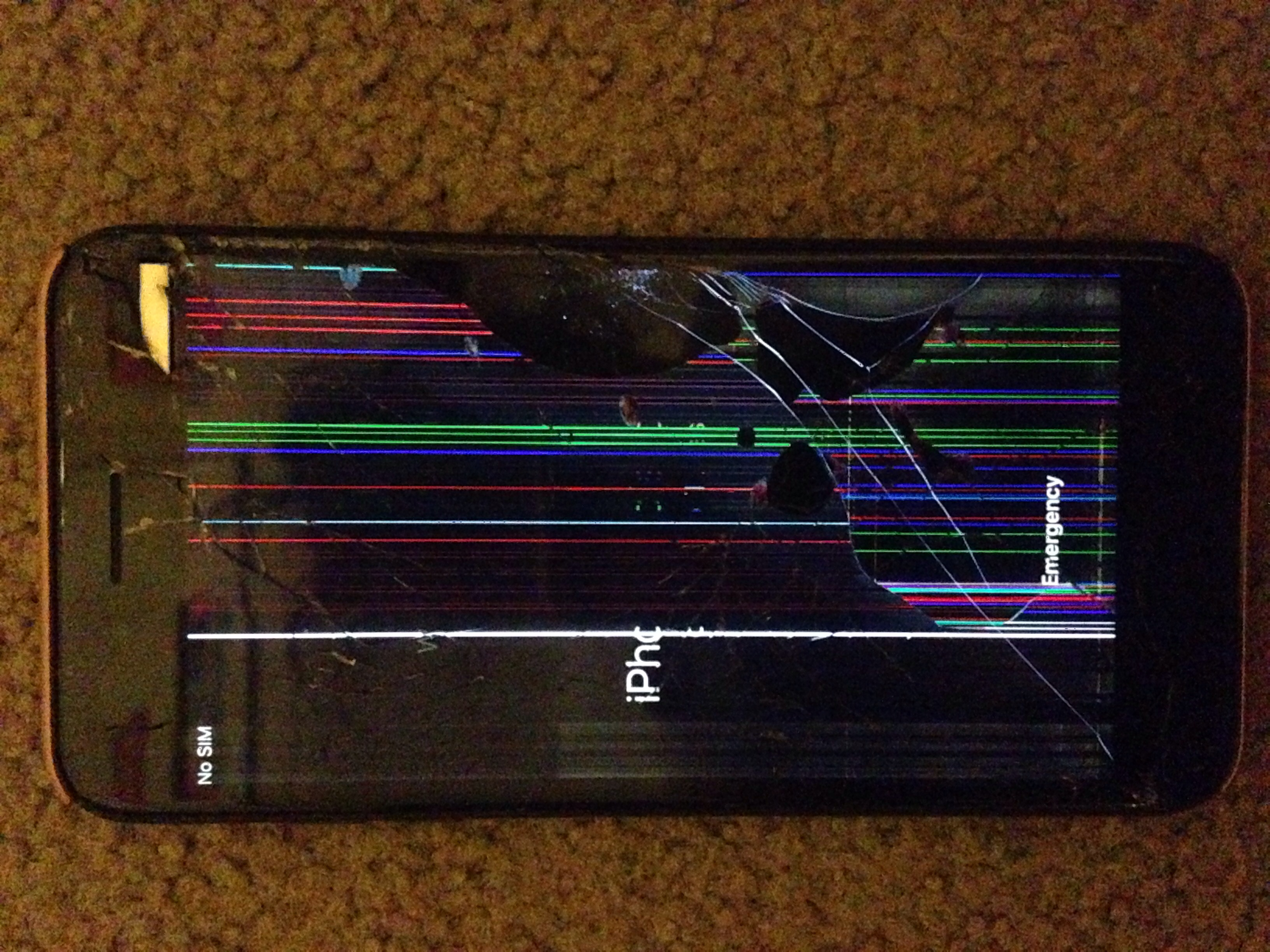 My iPhone has a cracked screen and colour… - Apple Community