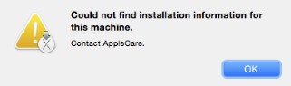 Could not find installation information for this machine contact apple — pic 2