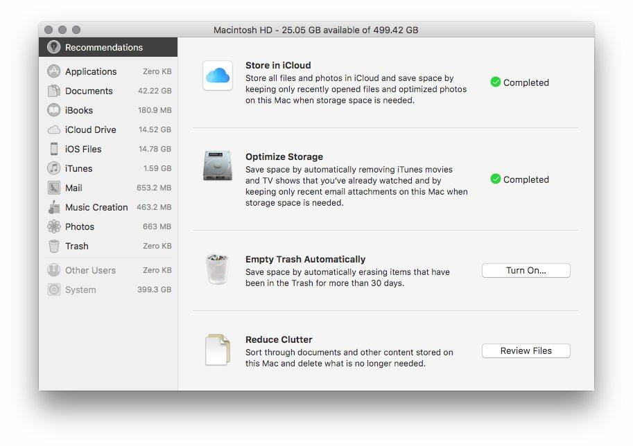 Macintosh HD System Storage = 400 GB - Apple Community