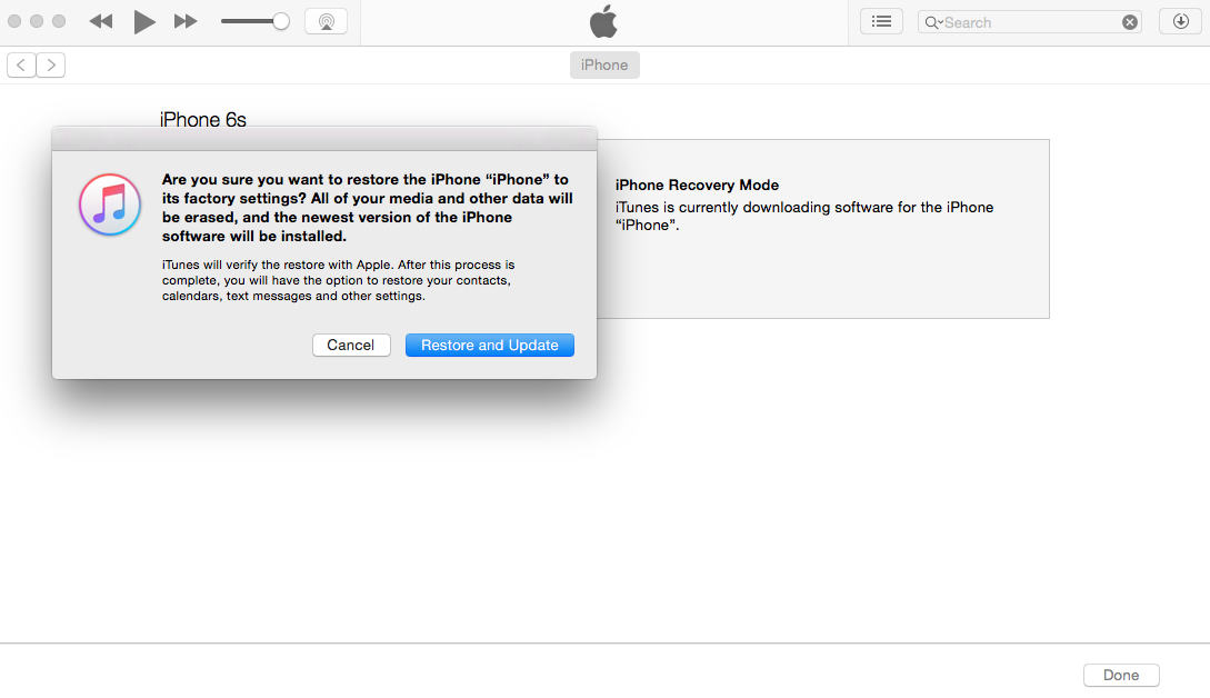 iphone in recovery mode can't update … - Apple Community