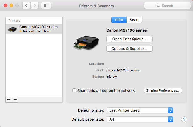 Canon Mg7100 Driver For Mac
