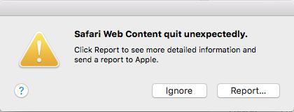 My Safari is crashing :( - Apple Community