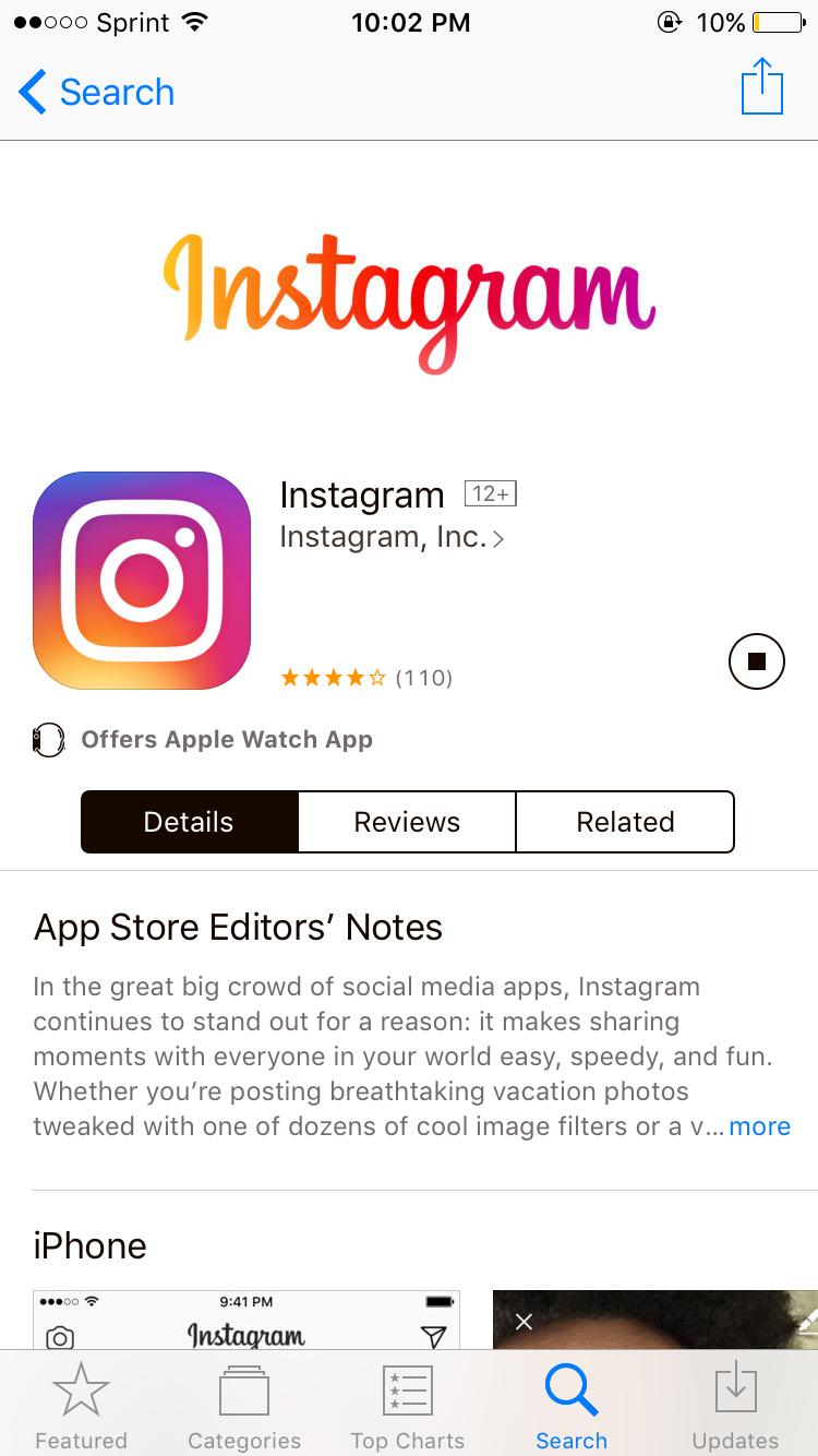 download instagram iphone 6s